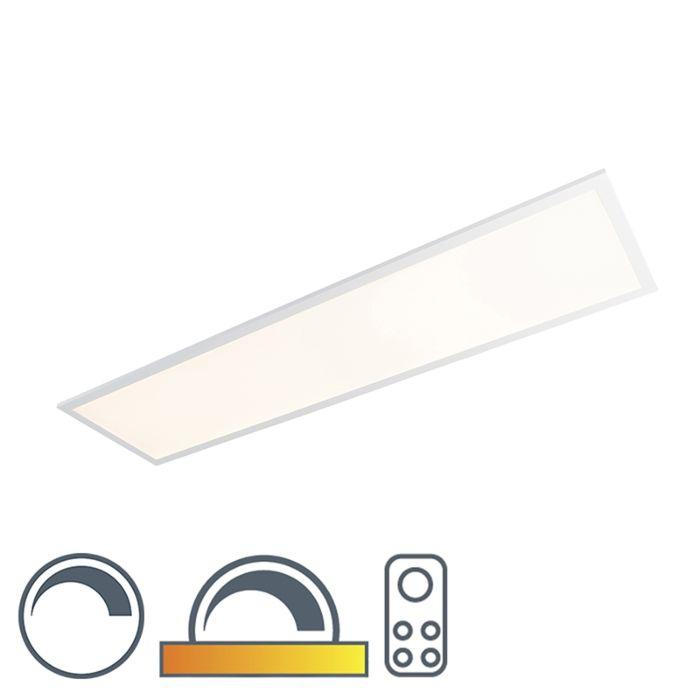 Langwerpige-plafondlamp-wit-LED-met-afstandsbediening---Orch