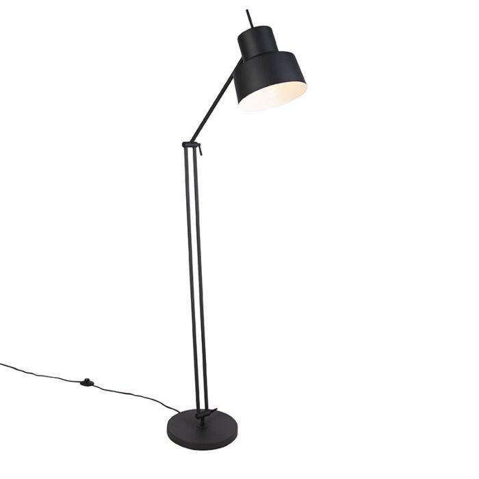 Retro-vloerlamp-zwart---Chappie