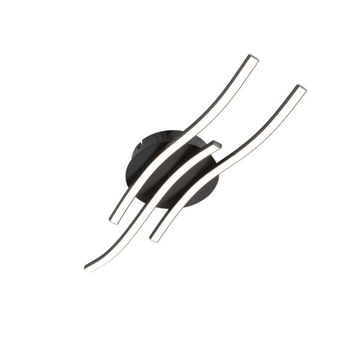 Design-plafondlamp-zwart-incl.-LED---Onda-klein