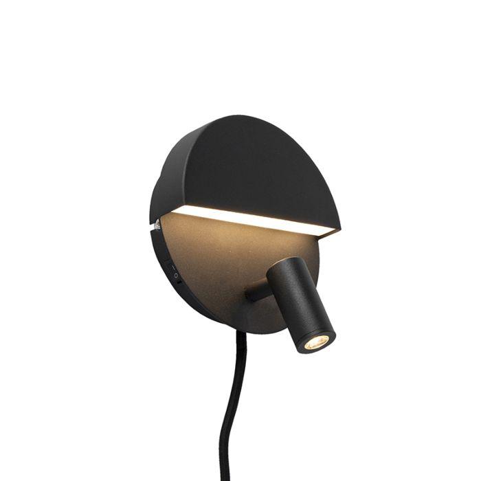 Design-wandlamp-zwart-incl.-LED---Marion