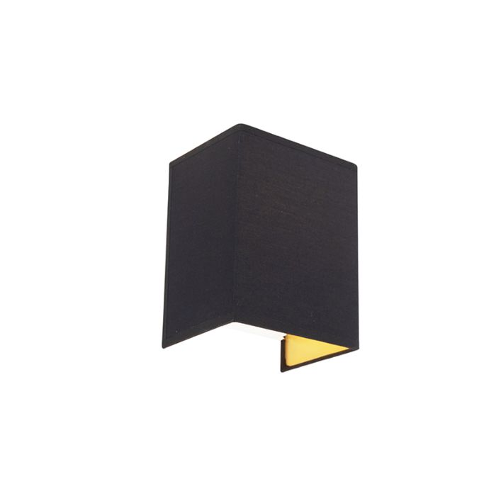 Moderne-wandlamp-zwart-en-goud---Vete