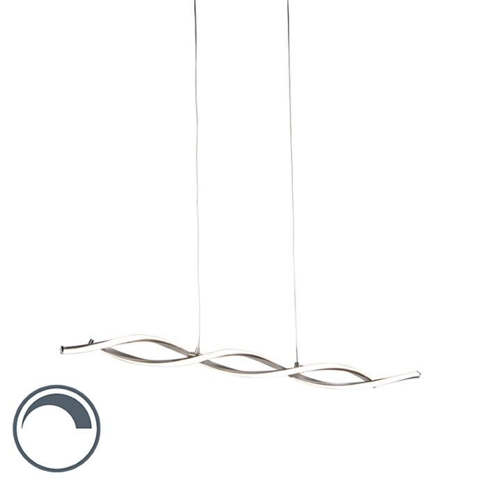 Moderne-hanglamp-staal-incl.-LED-en-dimmer---Paulina