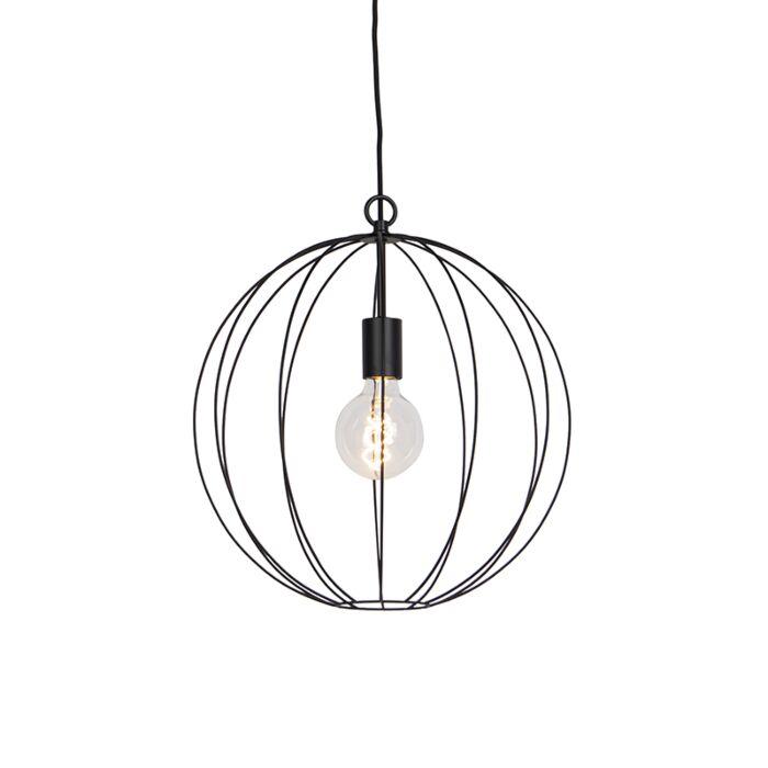 Design-ronde-hanglamp-zwart-40-cm---Pelotas