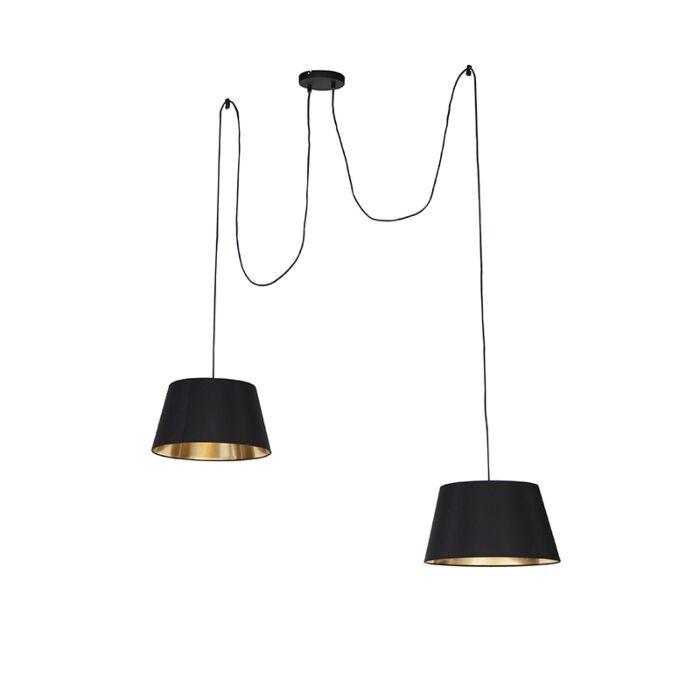 Moderne-hanglamp-zwart---Lofty