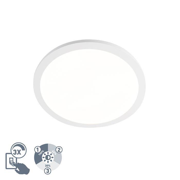 Plafondlamp-wit-40-cm-incl.-LED-IP44---Camilla