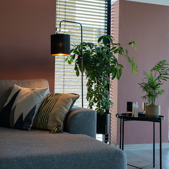 Moderne-vloerlamp-zwart---Lofty