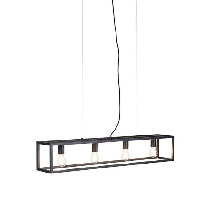 Industriële-hanglamp-zwart---Cage-4