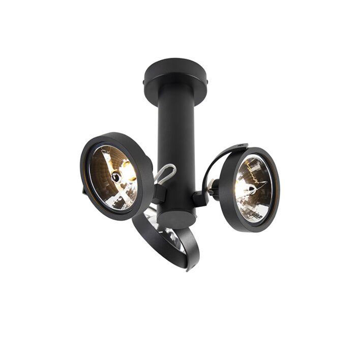 Design-spot-verstelbaar-3-lichts-incl.-G9-zwart---Goes