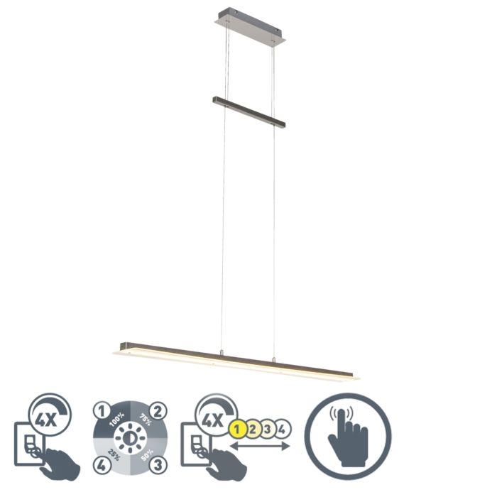 Moderne-hanglamp-staal-incl.-LED---Masha
