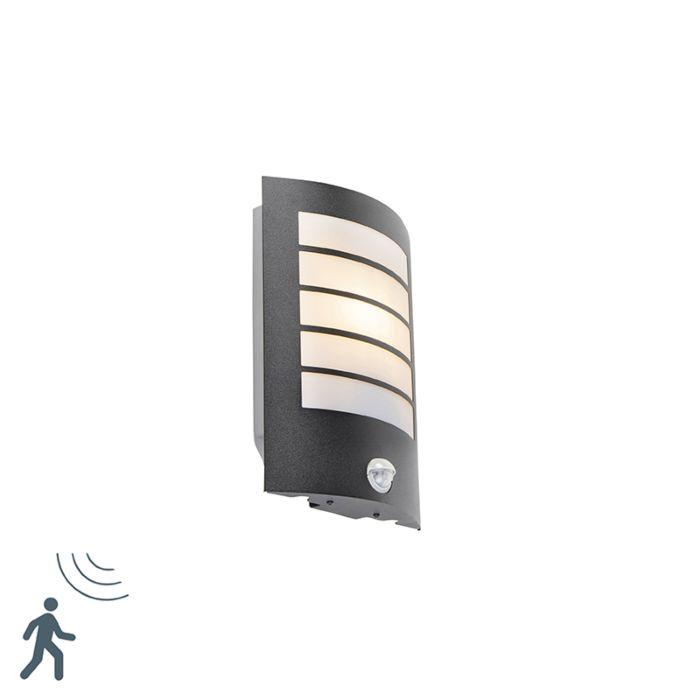 Buitenwandlamp-zwart-IP44-met-bewegingssensor---Miro