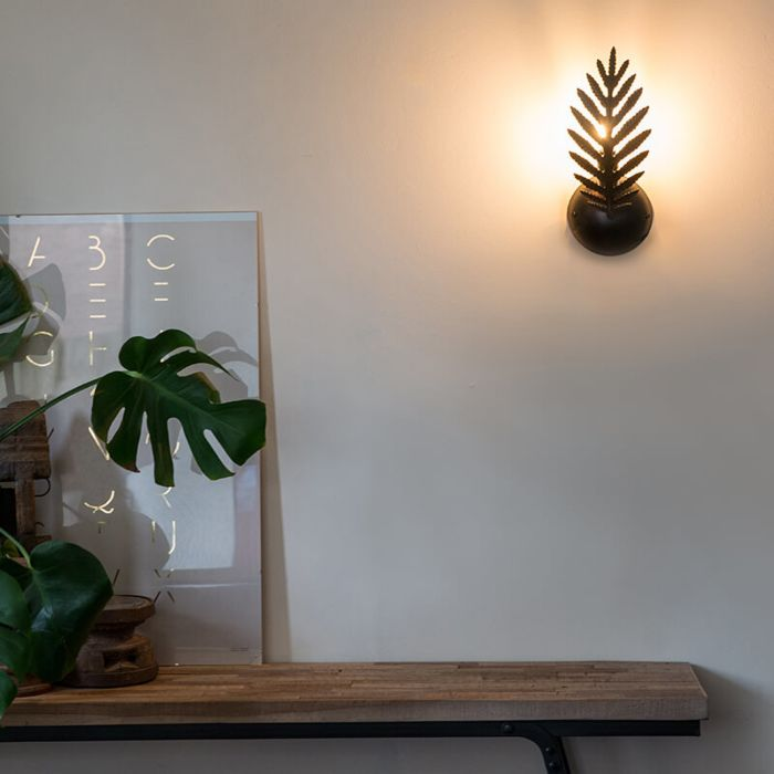 Vintage-wandlamp-zwart---Botanica