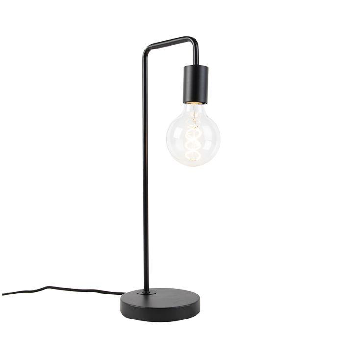 Moderne-zwarte-tafellamp---Facil