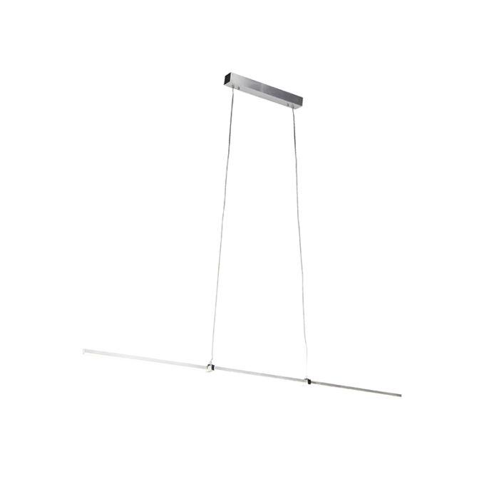 Moderne-hanglamp-aluminium-incl.-LED-en-dimmer---Plazas