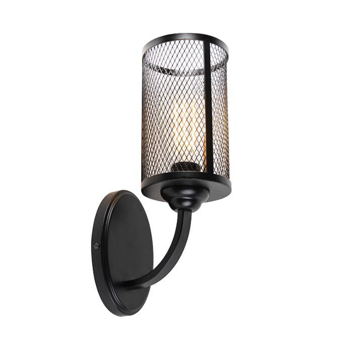 Industriële-wandlamp-zwart---Gauze