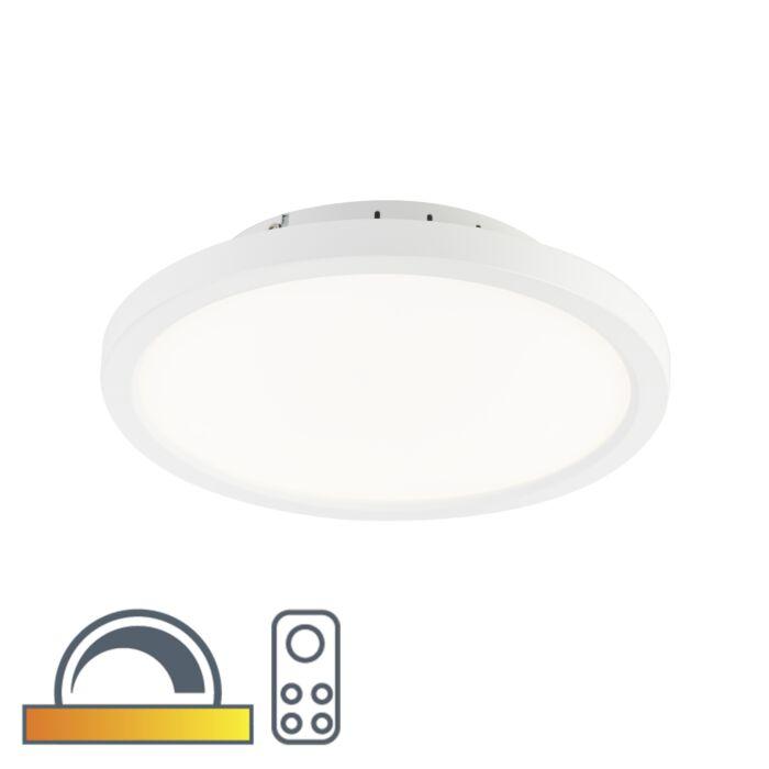 Moderne-ronde-plafonnière-wit-30cm-incl.-LED-dim-to-warm---Flat