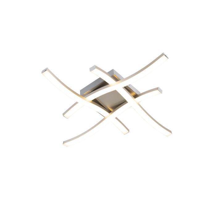 Design-vierkante-plafondlamp-staal-incl.-LED---Onda