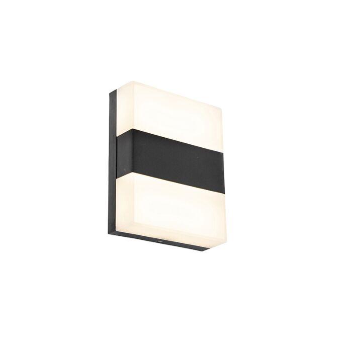 Moderne-buitenwandlamp-zwart-IP44-incl.-LED---Dualy
