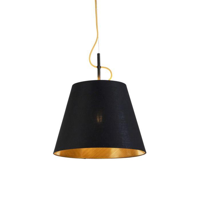 Moderne-hanglamp-zwart-met-goud---Andrie