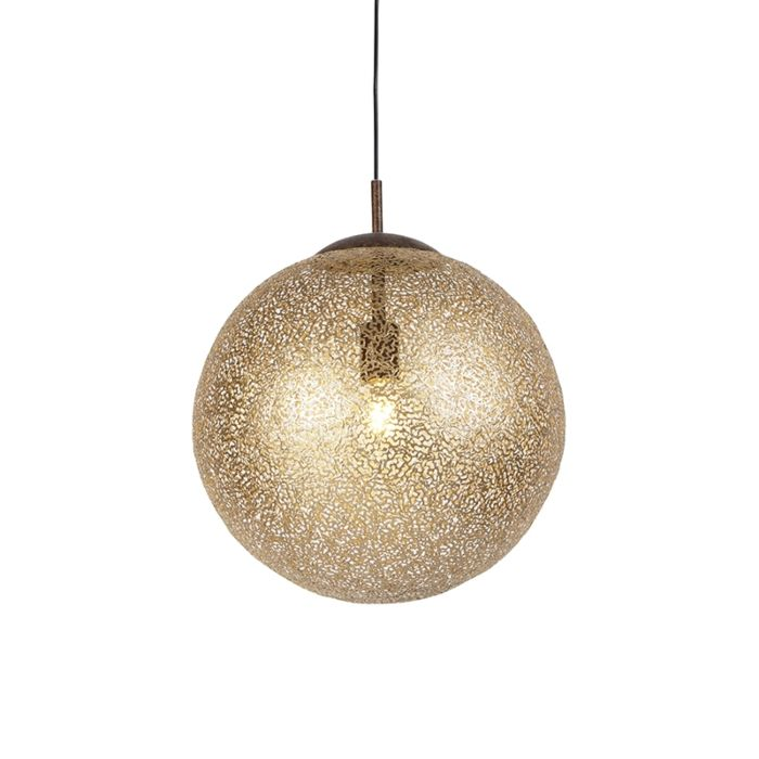 Landelijke-hanglamp-roestbruin-40cm---Kreta