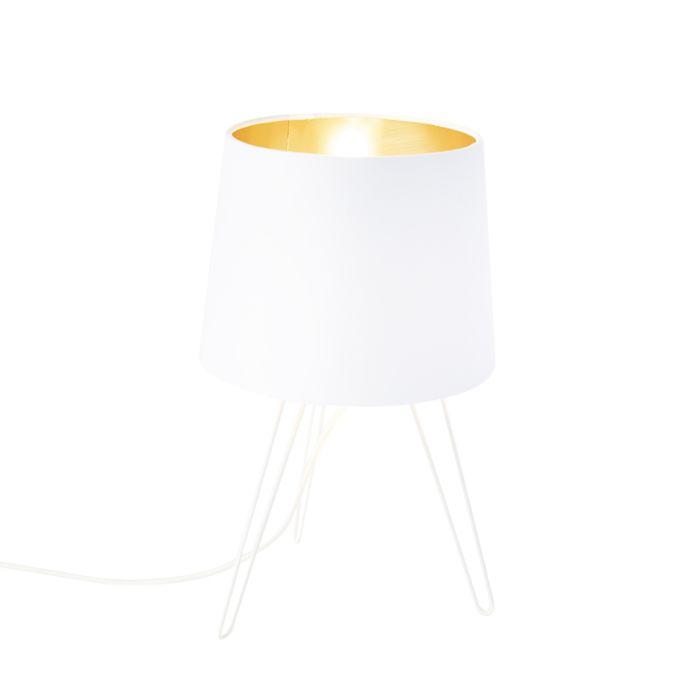 Moderne-tafellamp-wit---Lofty
