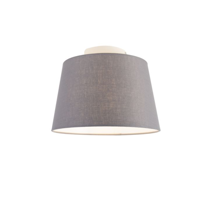 Moderne-plafondlamp-met-donkergrijze-kap-25-cm---Combi