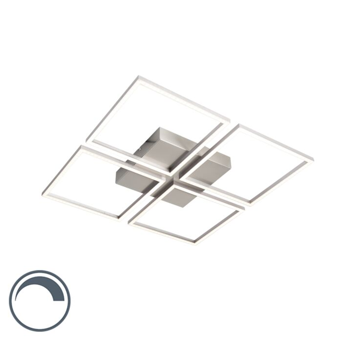Design-plafondlamp-staal-incl.-LED-en-dimmer---Plazas-4