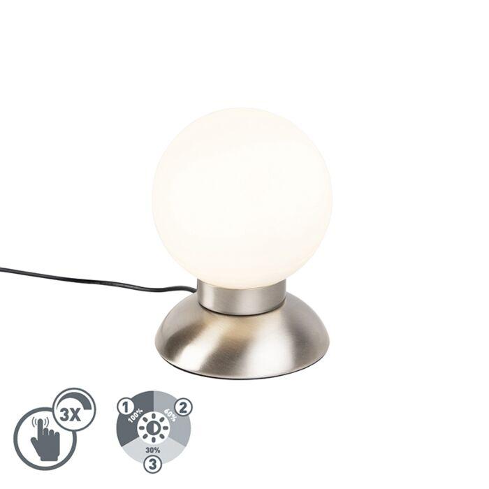 Design-tafellamp-staal-dimbaar-incl.-LED---Majestic