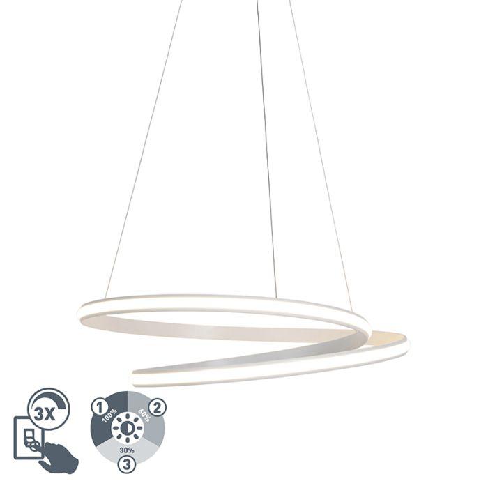 Moderne-hanglamp-wit-74cm-incl.-LED-3-staps-dimbaar---Rowan
