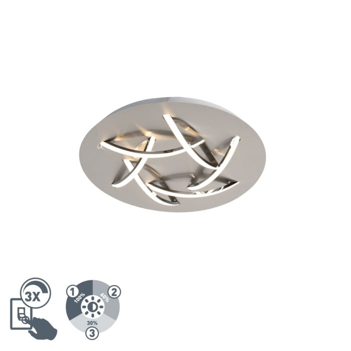 Design-plafondlamp-staal-incl.-LED---Delphina
