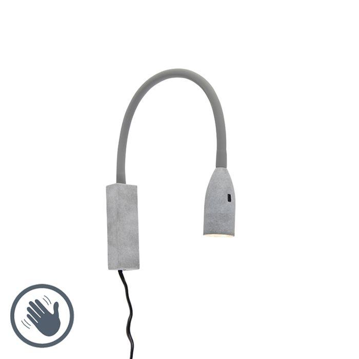 Design-wandlamp-grijs-met-flexarm-dimbaar-incl.-LED---Lenta