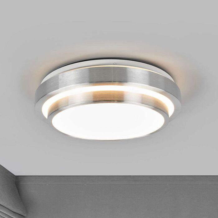 Ronde-plafondlamp-aluminium-incl.-LED---Huberta