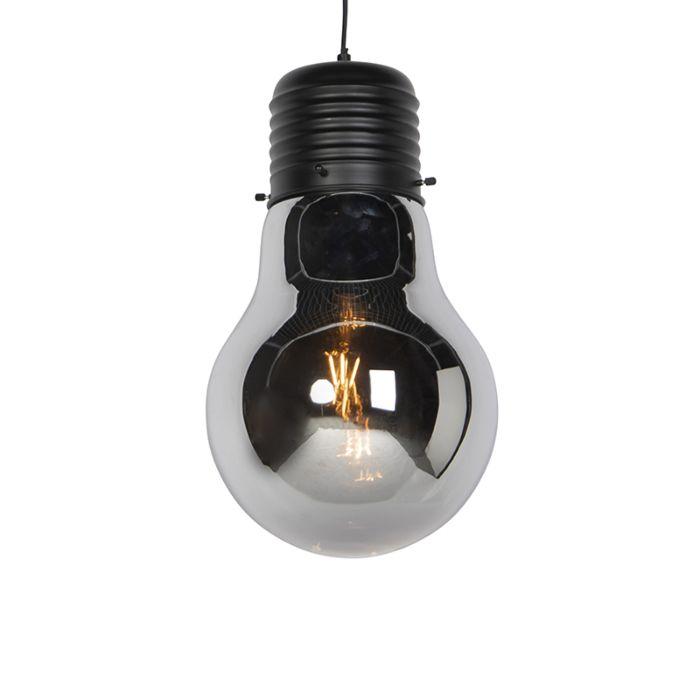 Design-hanglamp-zwart-met-smoke-glas---Nigrum