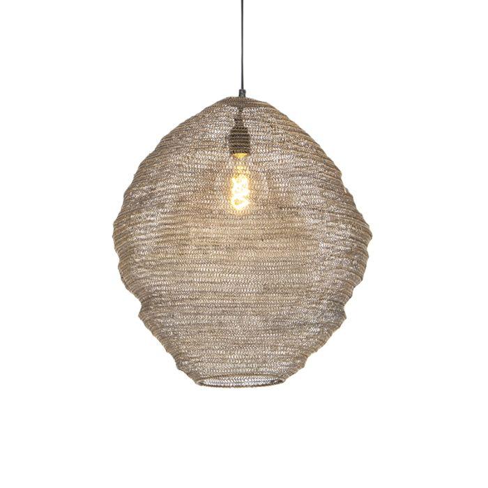 Oosterse-hanglamp-messing-46-cm---Nidum-Mena
