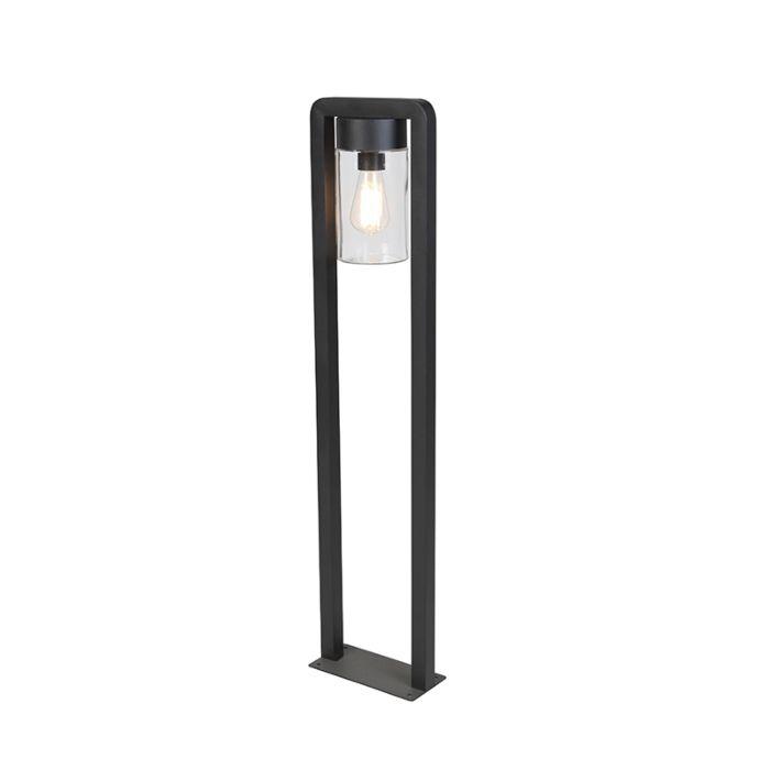 Moderne-staande-buitenlamp-zwart-IP44---Jarra-Balanco