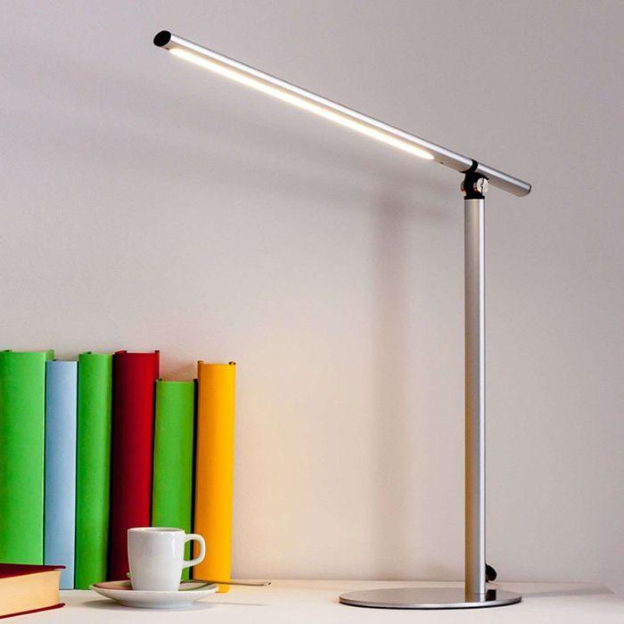Strakke-bureaulamp-zilver-incl.-LED---Kolja