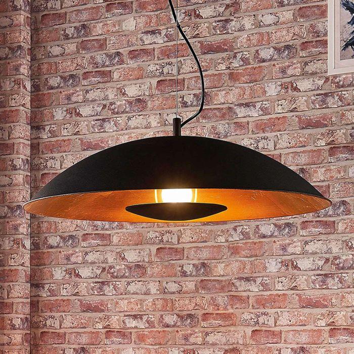 Moderne-hanglamp-zwart-met-goud---Emilienne