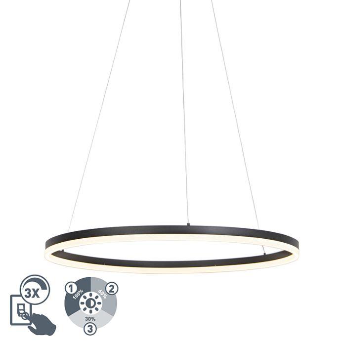 Design-ring-hanglamp-zwart-80cm-incl.-LED-en-dimmer---Anello