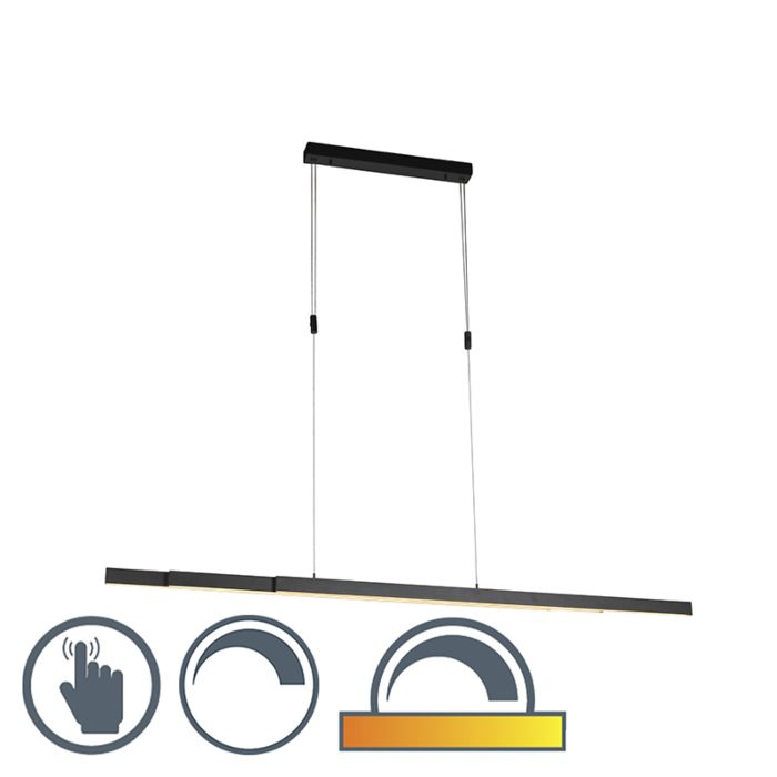Verstelbare-hanglamp-antraciet-dim-to-warm-incl.-LED---Juliet
