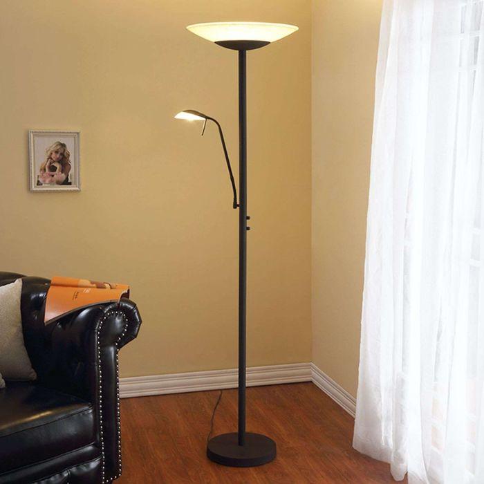 Vloerlamp-antraciet-met-leesarm-incl.-LED-en-dimmer---Ragna