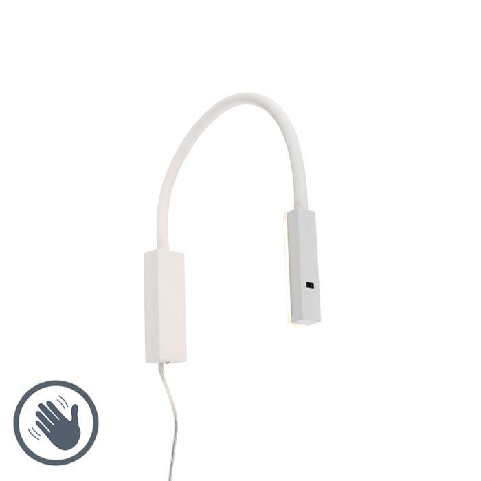 Design-wandlamp-wit-met-flexarm-dimbaar-incl.-LED---Lenta