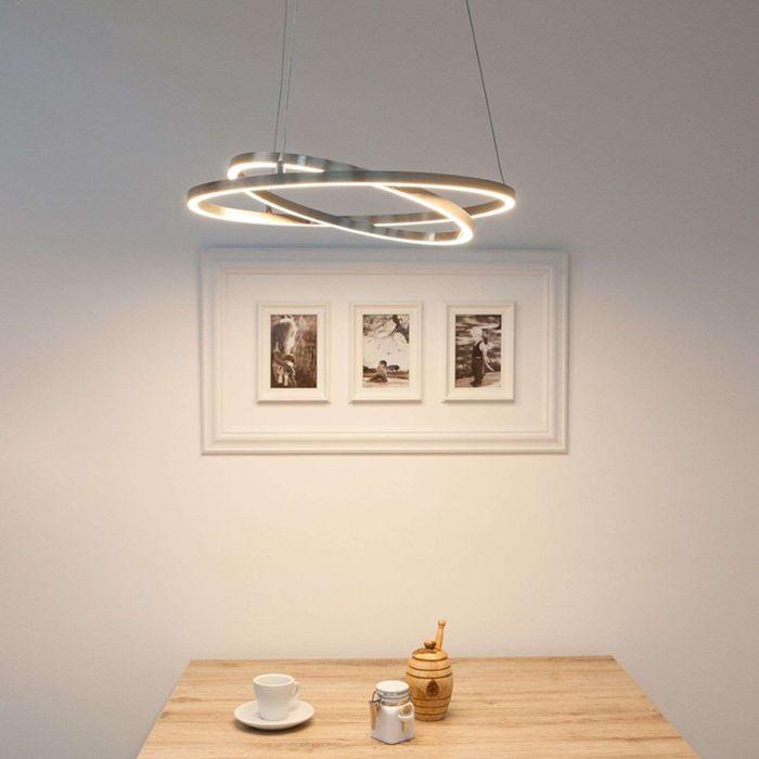 Moderne-hanglamp-aluminium-2-lichts-incl.-LED-en-dimmer---Lovisa