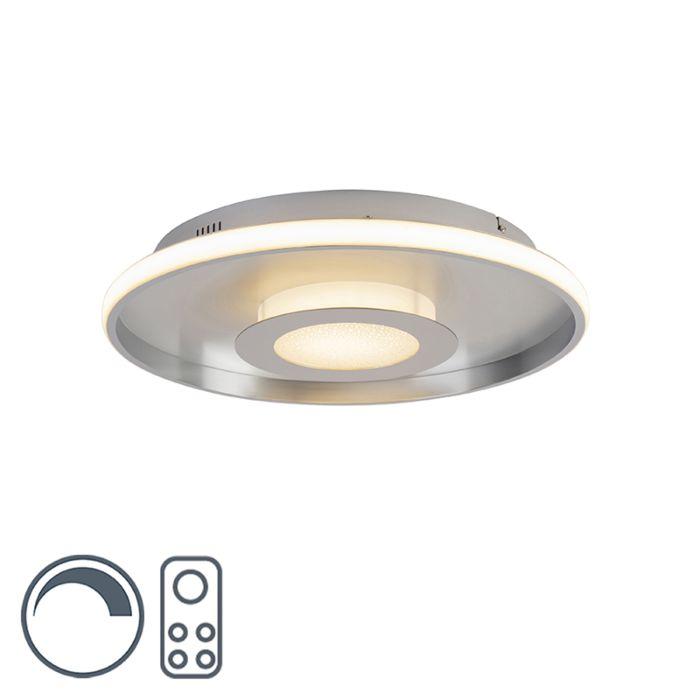 Plafonnière-aluminium-44-cm-incl.-LED-met-afstandsbediening---Oculus
