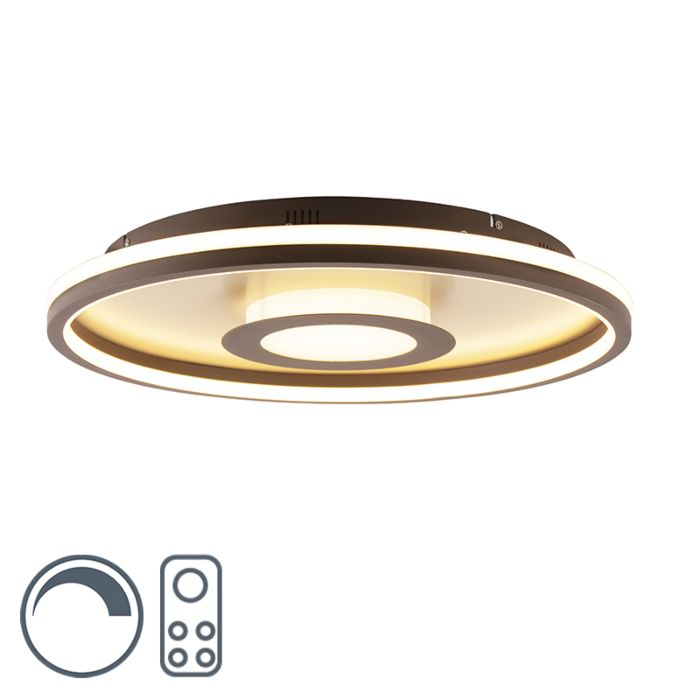 Design-plafonniere-goud-60cm-met-afstandsbediening-incl.-LED---Oculus