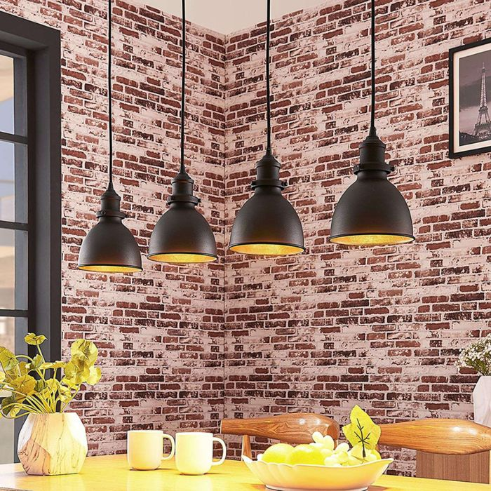 Industriële-hanglamp-zwart-150-cm-4-lichts---Jasminka