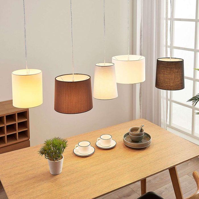 Landelijke-ronde-5-lichts-hanglamp-bruin-wit---Hermina