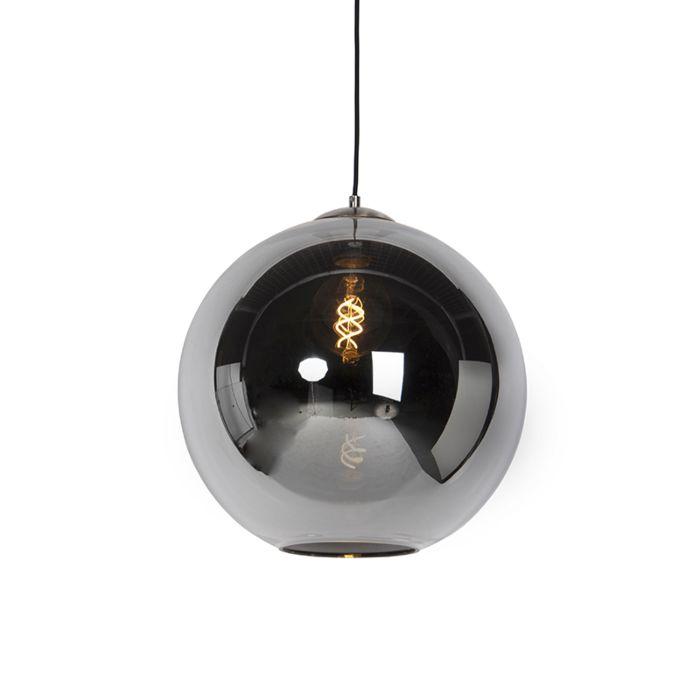 Art-deco-hanglamp-staal-met-smoke-glas-40-cm---Pallot