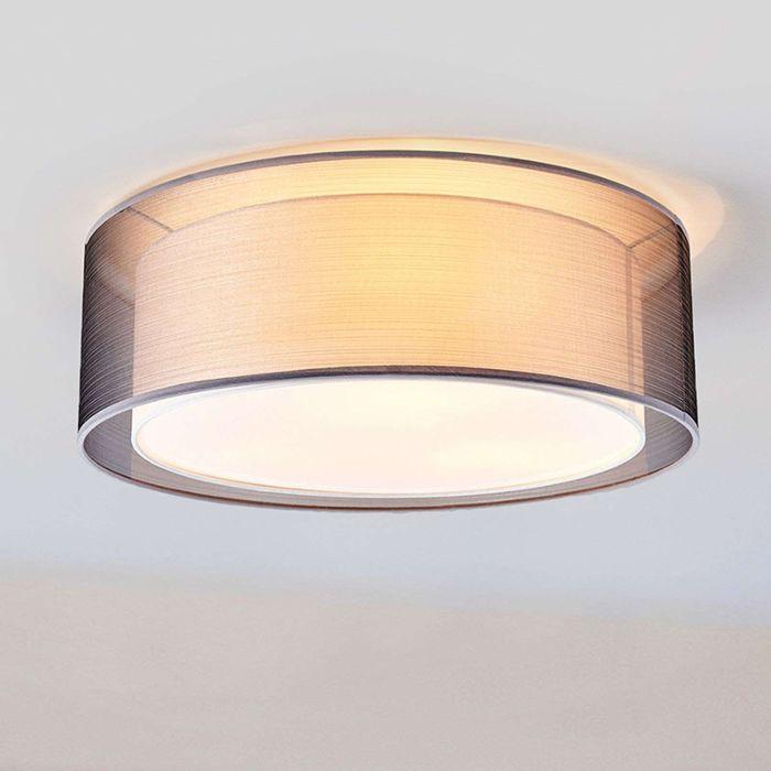 Klassieke-ronde-plafondlamp-grijs-53-cm---Nica