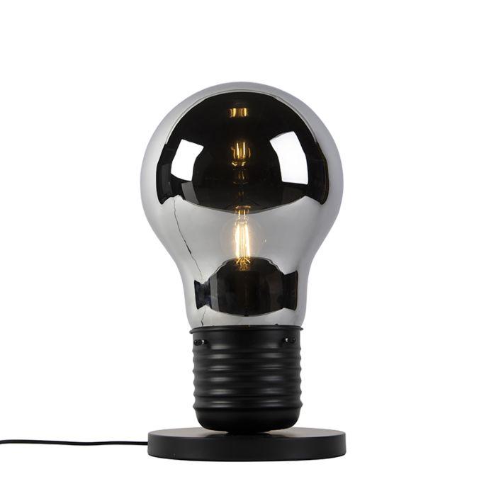 Design-tafellamp-zwart-met-smoke-glas---Nigrum