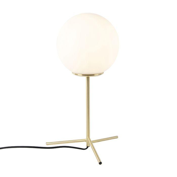Art-deco-tafellamp-messing-met-opaal-glas-45,5-cm---Pallon