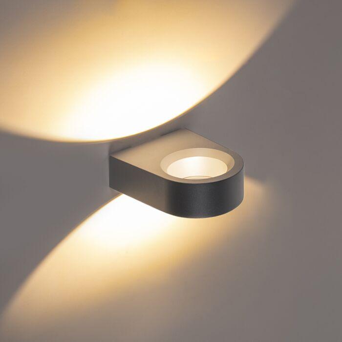Design-buitenwandlamp-antraciet-incl.-LED---Vasso-uno